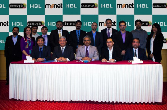 HBL & Monet signs agreement with Daraz.pk to process card on delivery payments through mobile point-of-sale (mPOS)